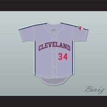 Lou Brown 34 Gray Baseball Jersey Major League II