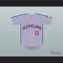 Pedro Cerrano 13 Gray Baseball Jersey Major League II