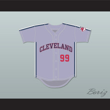 Rick Vaughn 99 Gray Baseball Jersey Major League II