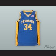 Kevin Garnett 34 Farragut Career Academy Blue Basketball Jersey