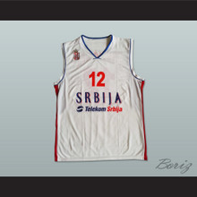 Nenad Krstic 12 Serbia Basketball Jersey Stitch Sewn