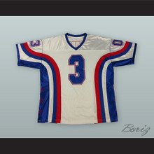 Allen Iverson 3 White Football Jersey