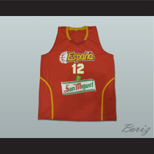 Nikola Mirotic 12 Espana Basketball Jersey Any Player