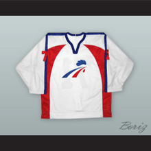 Sebastien Bordeleau 71 France White Hockey Jersey