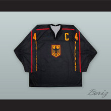 Uwe Krupp 44 Deutschland Black Hockey Jersey