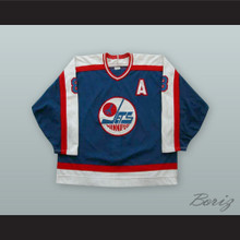 Randy Carlyle 8 Winnipeg Jets Hockey Jersey