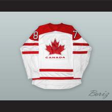 Sidney Crosby 87 Canada White Hockey Jersey