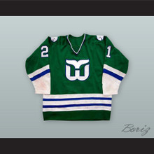 Blaine Stoughton 21 Hartford Whalers Green Hockey Jersey