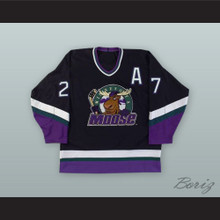 Dave Christian 27 Minnesota Moose Black Hockey Jersey