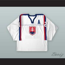 Peter Bondra 12 Slovakia National Team White Hockey Jersey