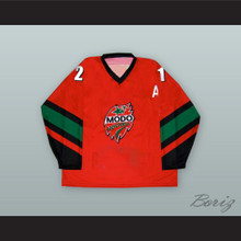 Peter Forsberg 21 MODO Hockey Red Hockey Jersey