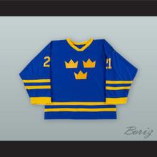 Peter Forsberg 21 Sweden National Team Blue Hockey Jersey