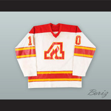 Bill Clement 10 Atlanta Flames White Hockey Jersey