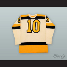 Bill Cowley 10 Boston White Hockey Jersey