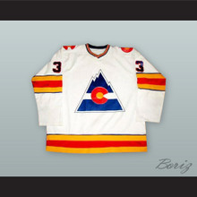 Doug Favell 33 Colorado Rockies White Hockey Jersey