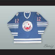 Janne Laukkanen 12 Cornwall Aces Blue Hockey Jersey