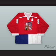 Jaromir Jagr 68 Czech Republic National Team Red Hockey Jersey