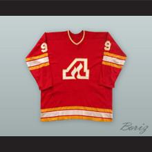 Larry Romanchych 9 Atlanta Flames Red Hockey Jersey