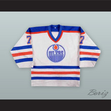 Paul Coffey 7 Edmonton Oilers White Hockey Jersey