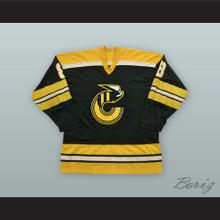 Robbie Ftorek 8 Cincinnati Stingers Black Hockey Jersey