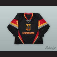 Robert Muller 80 Germany National Team Black Hockey Jersey