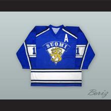 Saku Koivu 11 Finland National Team Blue Hockey Jersey