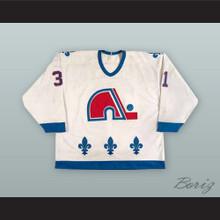 Valeri Kamensky 31 Quebec Nordiques White Hockey Jersey