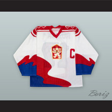 Vladimir Ruzicka 17 Czechoslovakia National Team White Hockey Jersey
