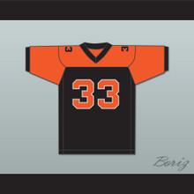Orc Fogteeth 33 Black/Orange Football Jersey Bright