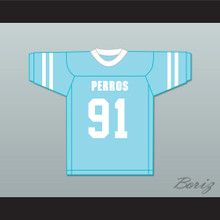 El Vampiro 91 Santa Martha Perros (Dogs) Light Blue Football Jersey The 4th Company