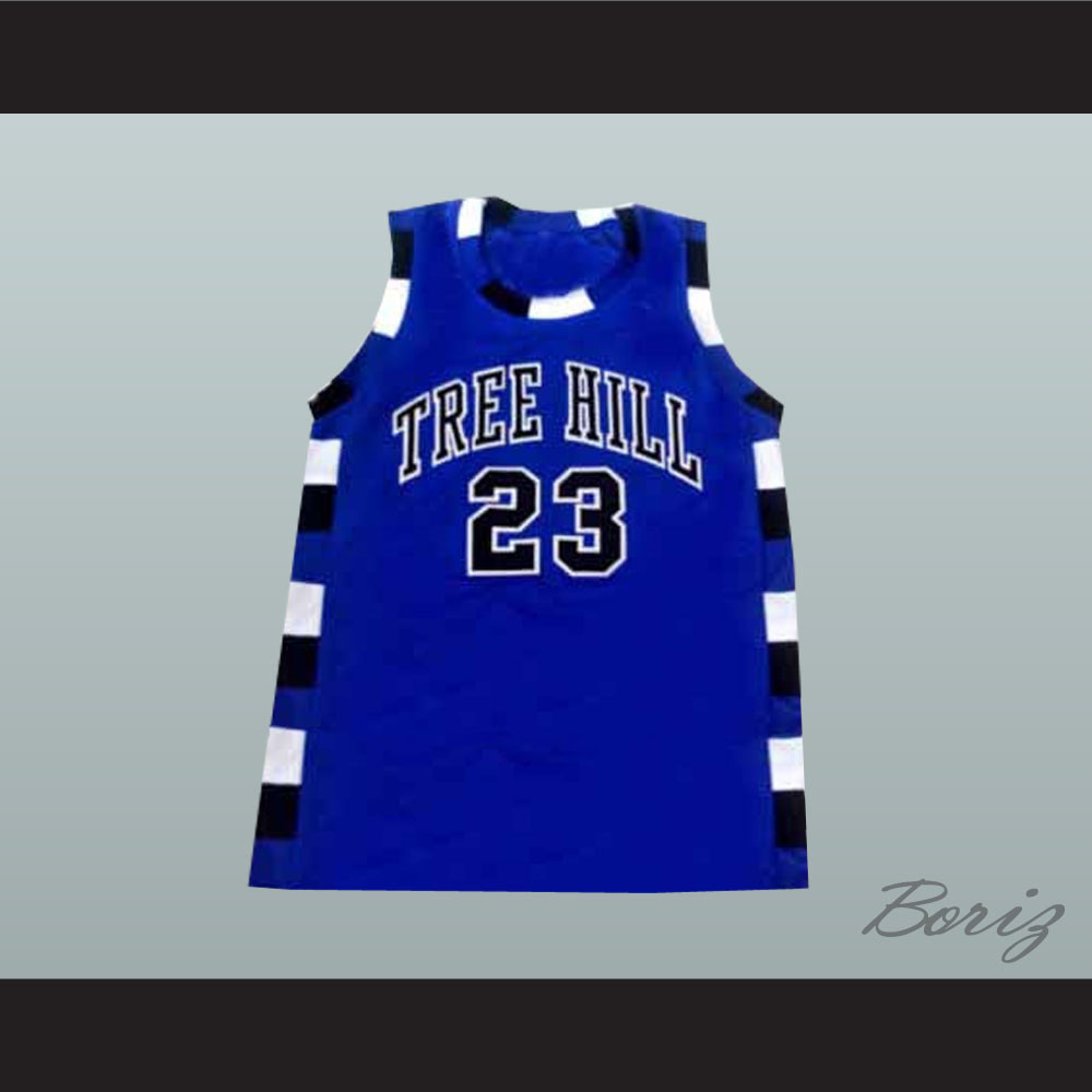 6c654f311 Nathan Scott 23 One Tree Hill Ravens Blue Basketball Jersey