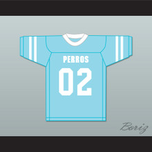 Siqueiros 02 Santa Martha Perros (Dogs) Light Blue Football Jersey The 4th Company
