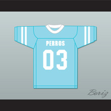 Tripas 03 Santa Martha Perros (Dogs) Light Blue Football Jersey The 4th Company