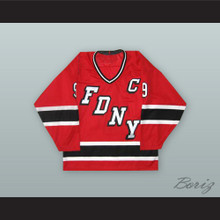 FDNY Bravest 9 Red Hockey Jersey