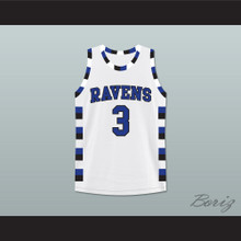 Antwon Skills Taylor 3 One Tree Hill Ravens Basketball Jersey Stitch Sewn