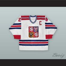 Robert Reichel 26 Czech Republic National Team White Hockey Jersey