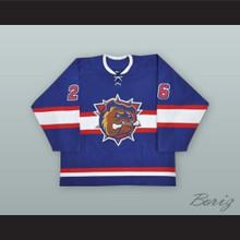 Maxim Lapierre 26 Hamilton Bulldogs Blue Hockey Jersey