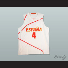 Pau Gasol Espana Basketball Jersey White Any Player or Number