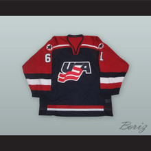 Mike York 61 USA National Team Blue Hockey Jersey