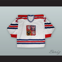 Roman Turek 2 Czech Republic National Team White Hockey Jersey