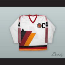 Udo Kiessling 4 West Germany National Team White Hockey Jersey
