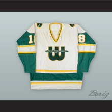 1978-79 WHA Marty Howe 18 New England Whalers White Hockey Jersey