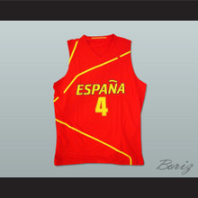 Pau Gasol Espana Basketball Jersey Red Any Player or Number