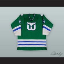 Blake Wesley 6 Hartford Whalers Green Hockey Jersey
