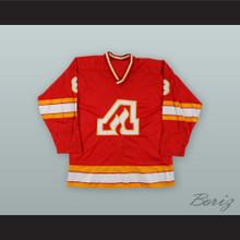 Dave Shand 8 Atlanta Flames Red Hockey Jersey
