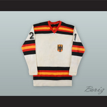 Martin Wild 21 West Germany National Team White Hockey Jersey