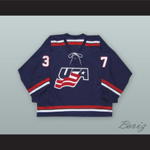 Mark Parrish 37 USA National Team Blue Hockey Jersey