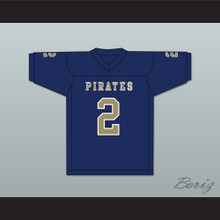 Carlos Thompson 2 Independence Community College Pirates Dark Blue Football Jersey