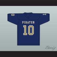 Drake Smith 10 Independence Community College Pirates Dark Blue Football Jersey