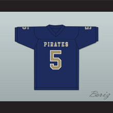 Emmit Gooden 5 Independence Community College Pirates Dark Blue Football Jersey
